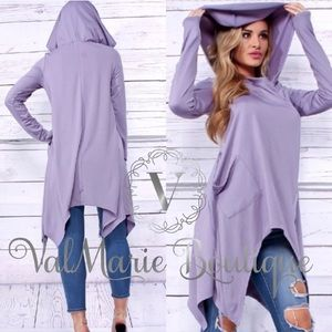 🔥FINAL PRICE🔥Lilac hooded cape pull over